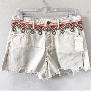 Free People | Borderline Cutoff Denim Shorts Adobe